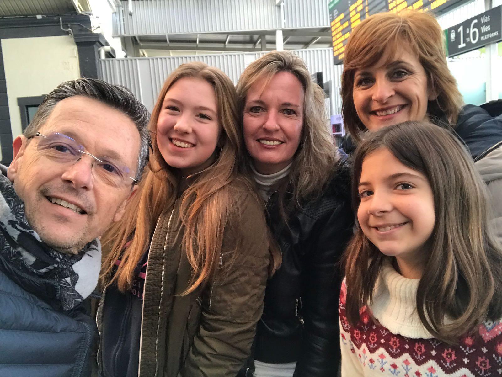 Abschiedsfoto Schüleraustausch Spanien