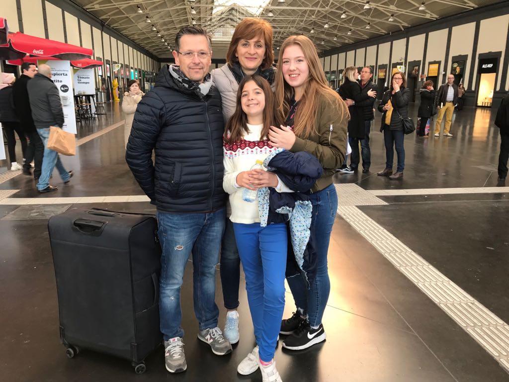 Abreise Austauschschülerin Bahnhof Alicante