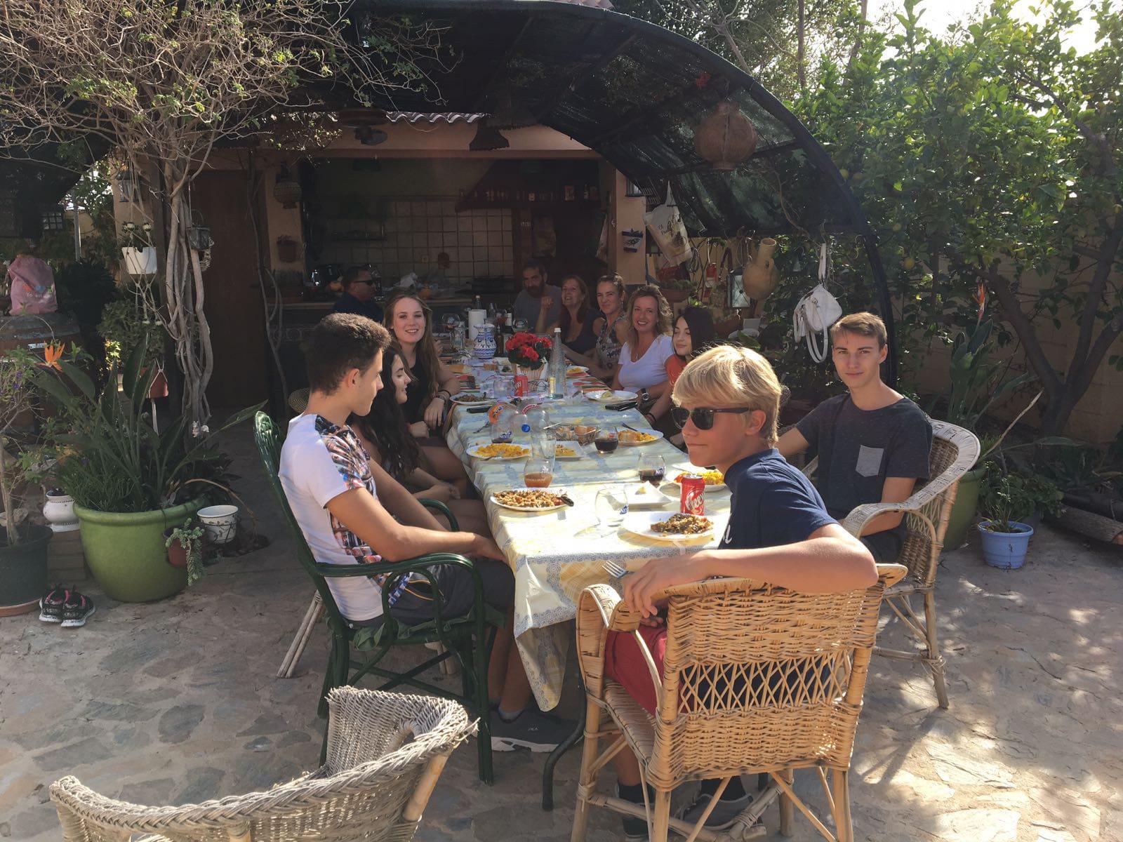 Treffen bei Gastfamilie Schüleraustausch Spanien